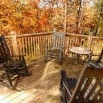 The deck of a Pigeon Forge cabin rental