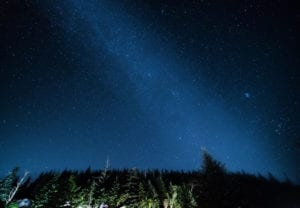 Stars at night from Clingmans Dome