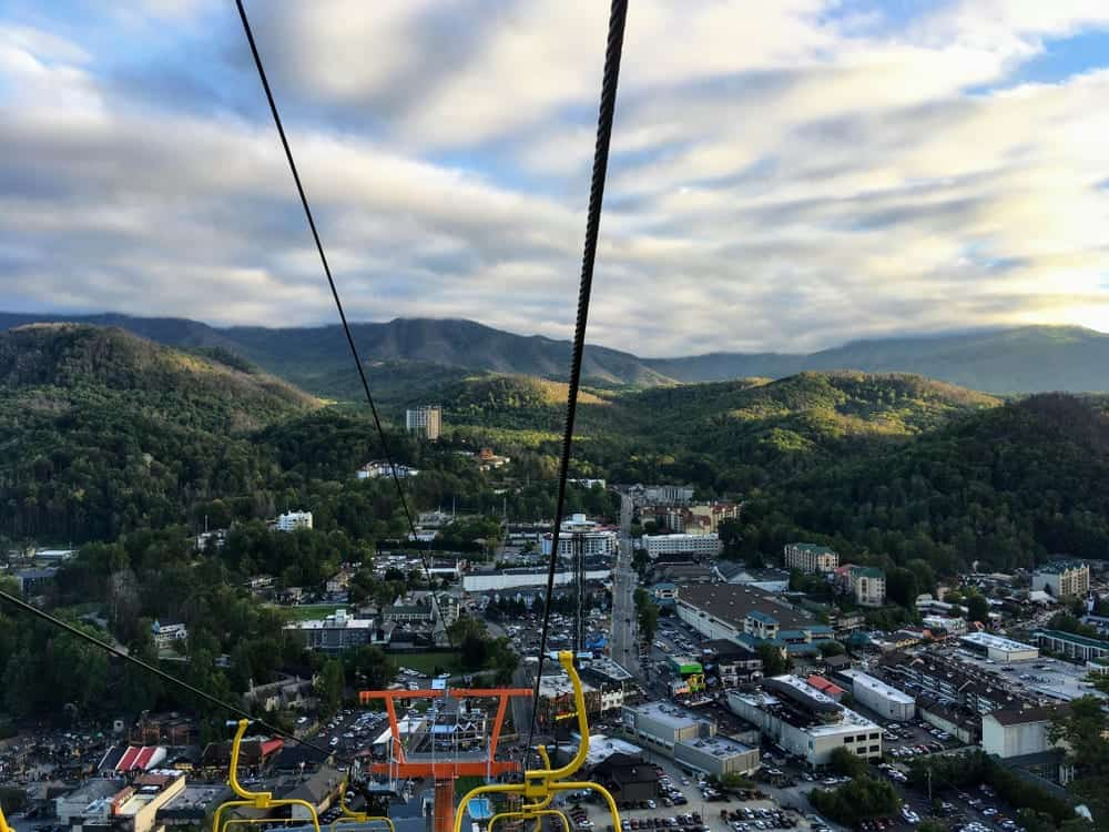 View from the Gatlinburg chair lift